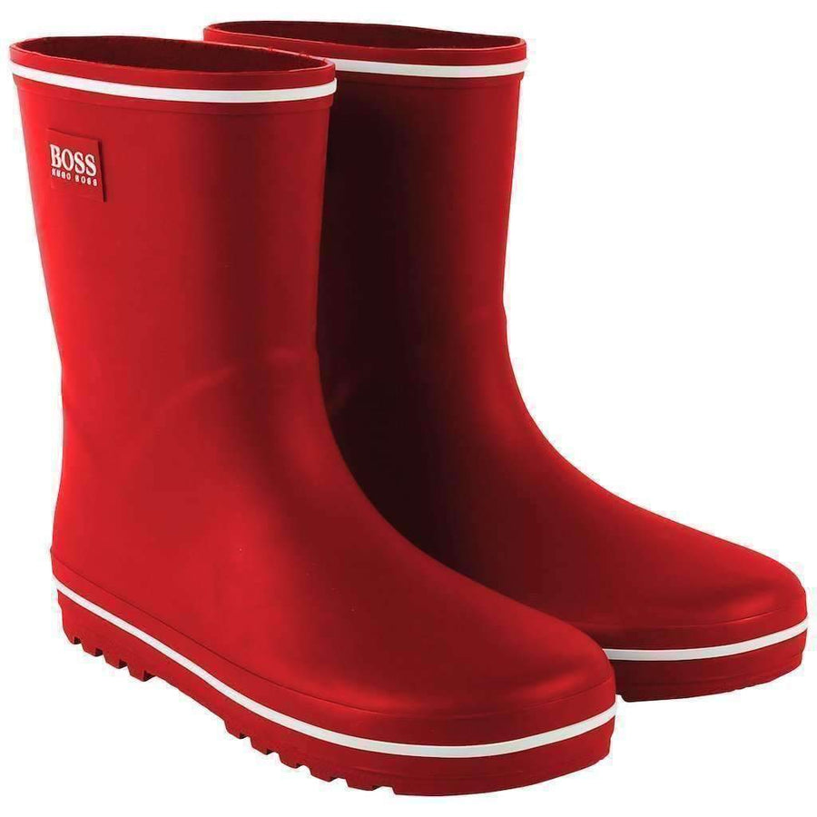 Boss Red Wellington Rain Boots-Shoes-BOSS-kids atelier