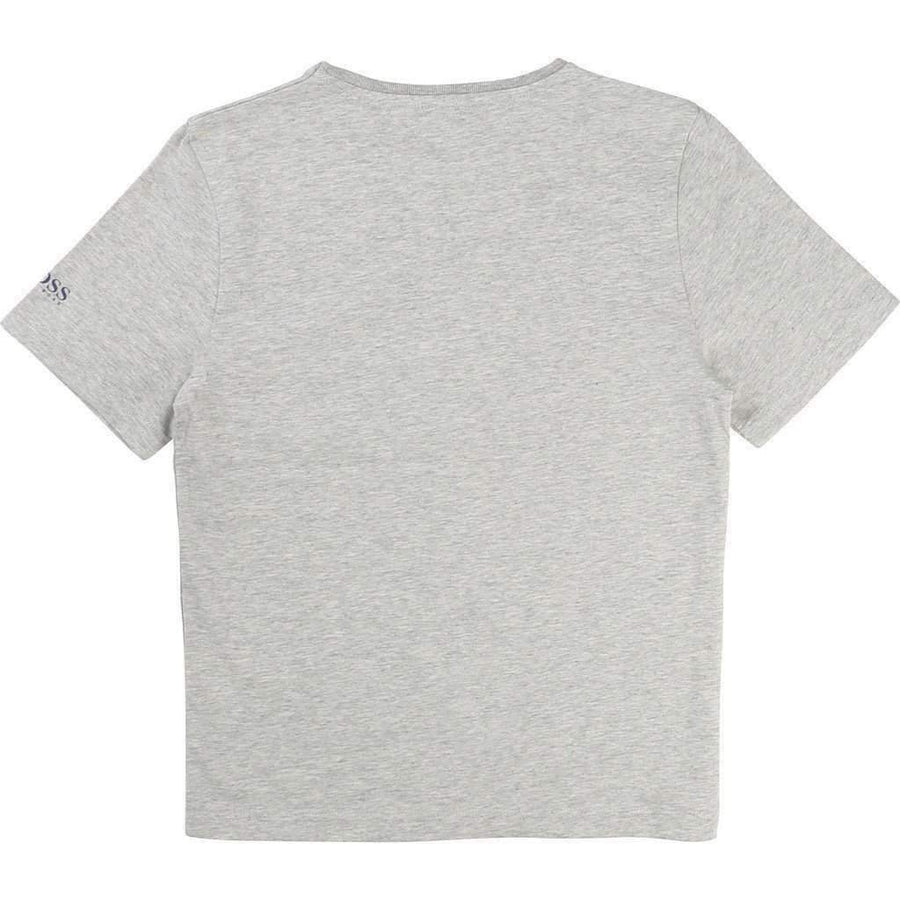 Boss Sand Gray Tee Shirt-Shirts-BOSS-kids atelier