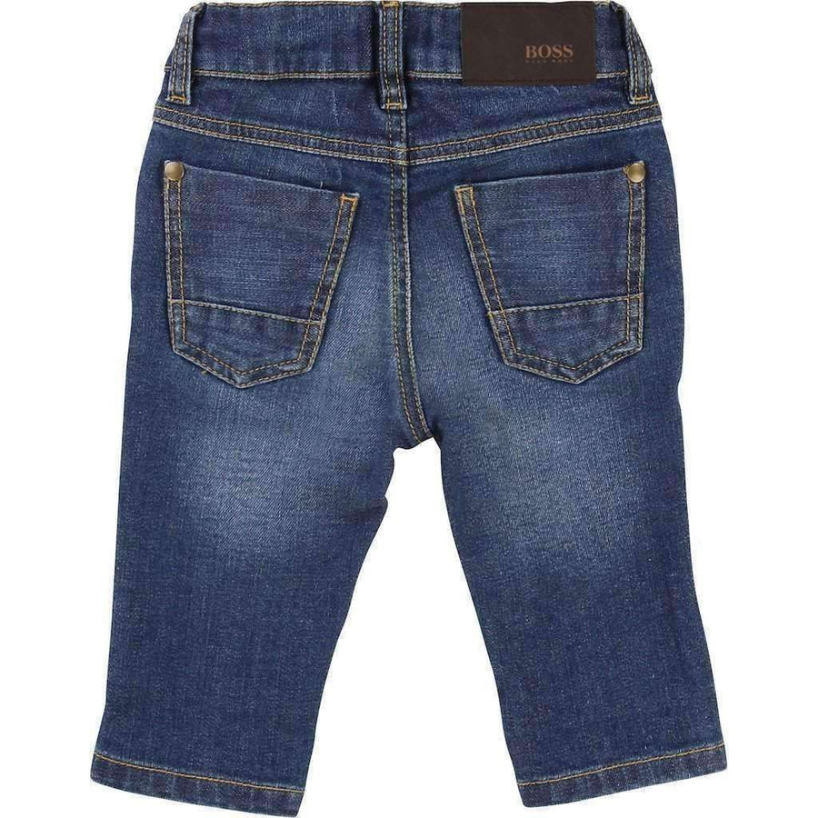Boss Slim Blue Denim Pants-Pants-BOSS-kids atelier