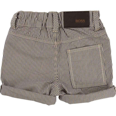 Boss Striped Bermuda Shorts-Shorts-BOSS-kids atelier