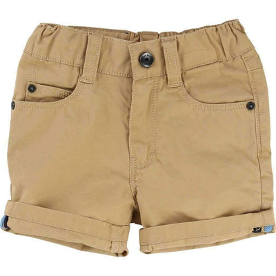 Boss Tan Twill Bermuda Shorts-Shorts-BOSS-kids atelier
