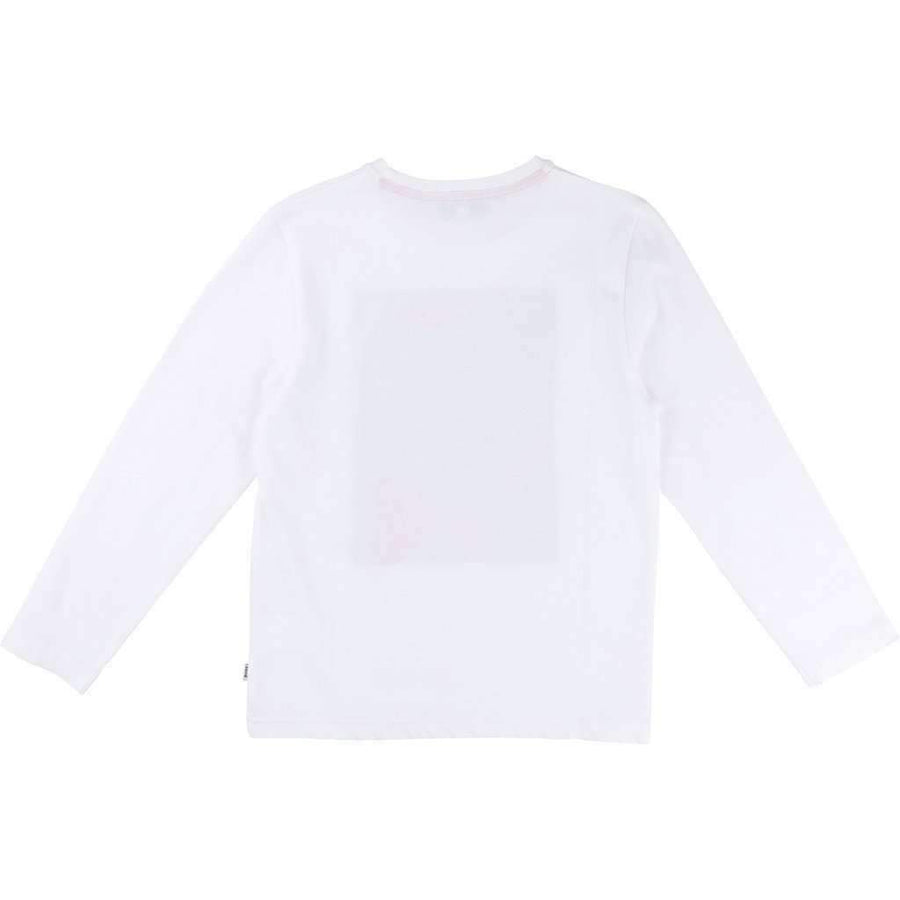 Boss White Abstract Logo Shirt