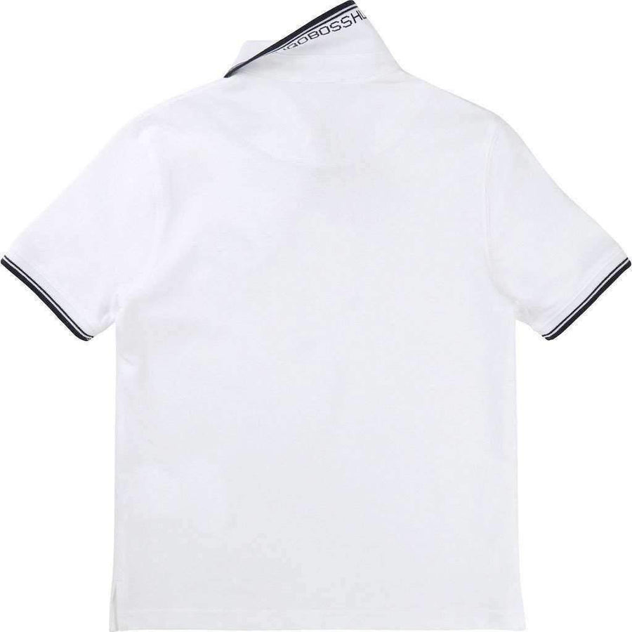 Boss White Accented Polo