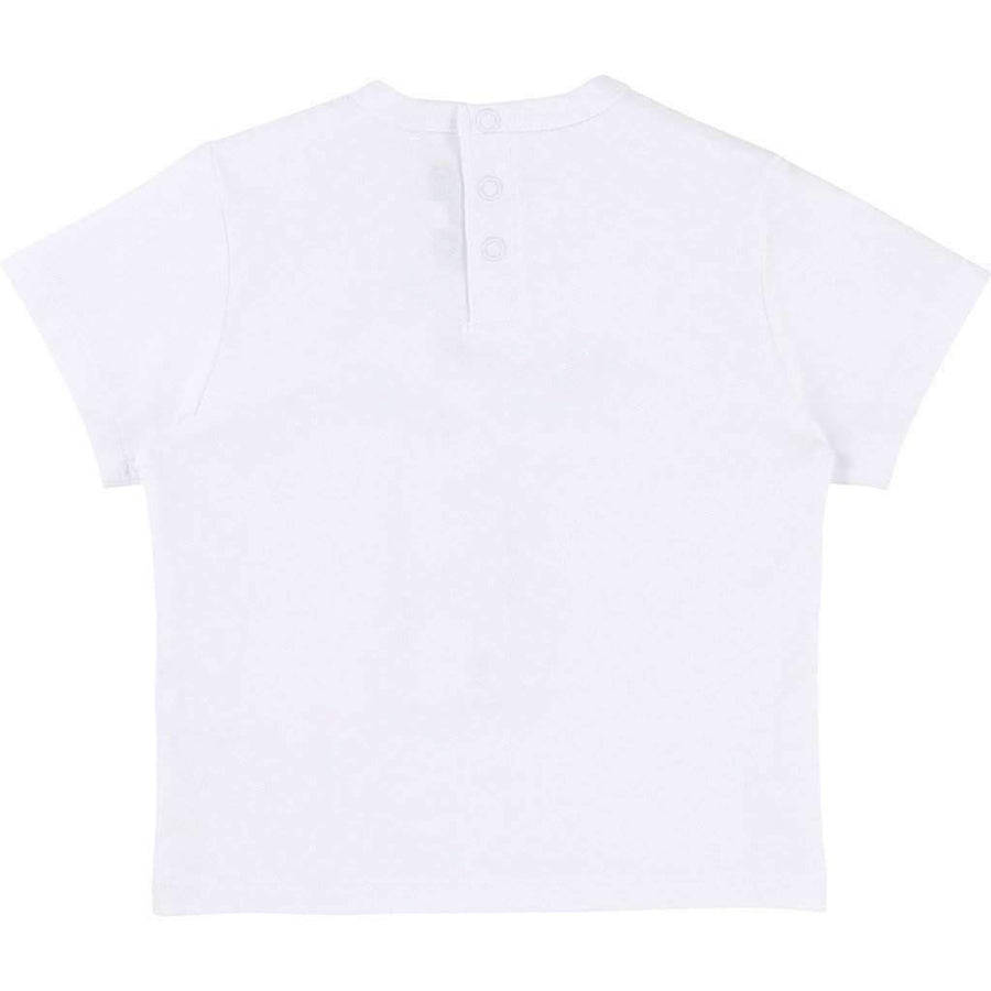 Boss White Cotton T-Shirt-Shirts-BOSS-kids atelier
