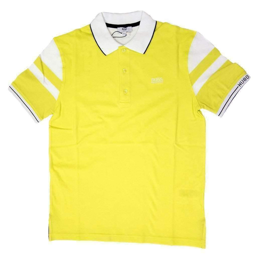 Boss Yellow White Polo Shirt-Shirts-BOSS-kids atelier