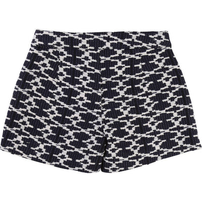 carrement-beau-black-white-patterned-shorts-y14077-84n