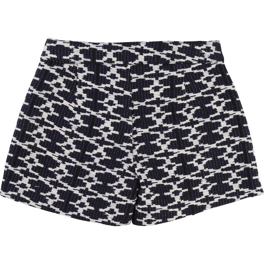 Carrement Beau Black & White Patterned Shorts