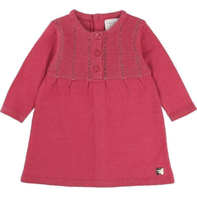 Carrement Beau Fuchsia Fancy Knitted Dress-Dresses-Carrément Beau-kids atelier