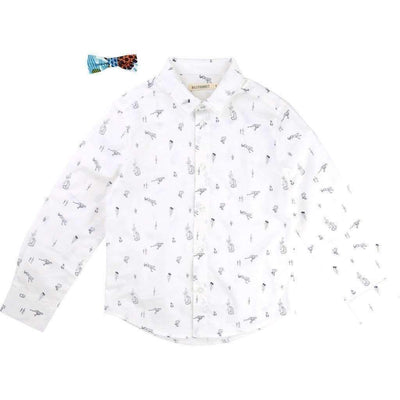 Cheetah Button Down Shirt-Shirts-Billybandit-kids atelier