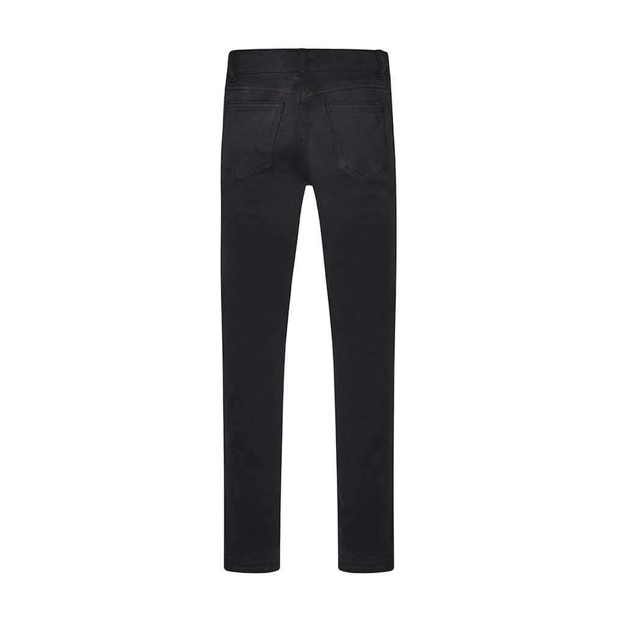 Chloe Black Moto Washed Denim Jeans