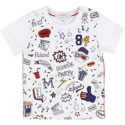 Cinema Doodles T-Shirt-Shirts-Little Marc Jacobs-kids atelier