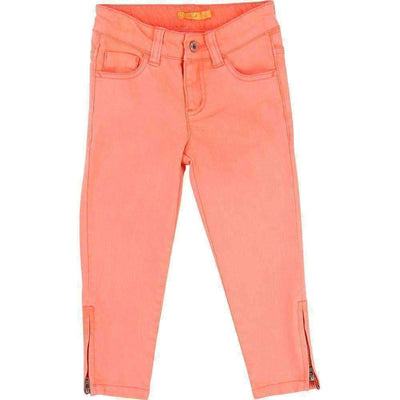 Coral Slim Fit Jeans-Pants-Billieblush-kids atelier