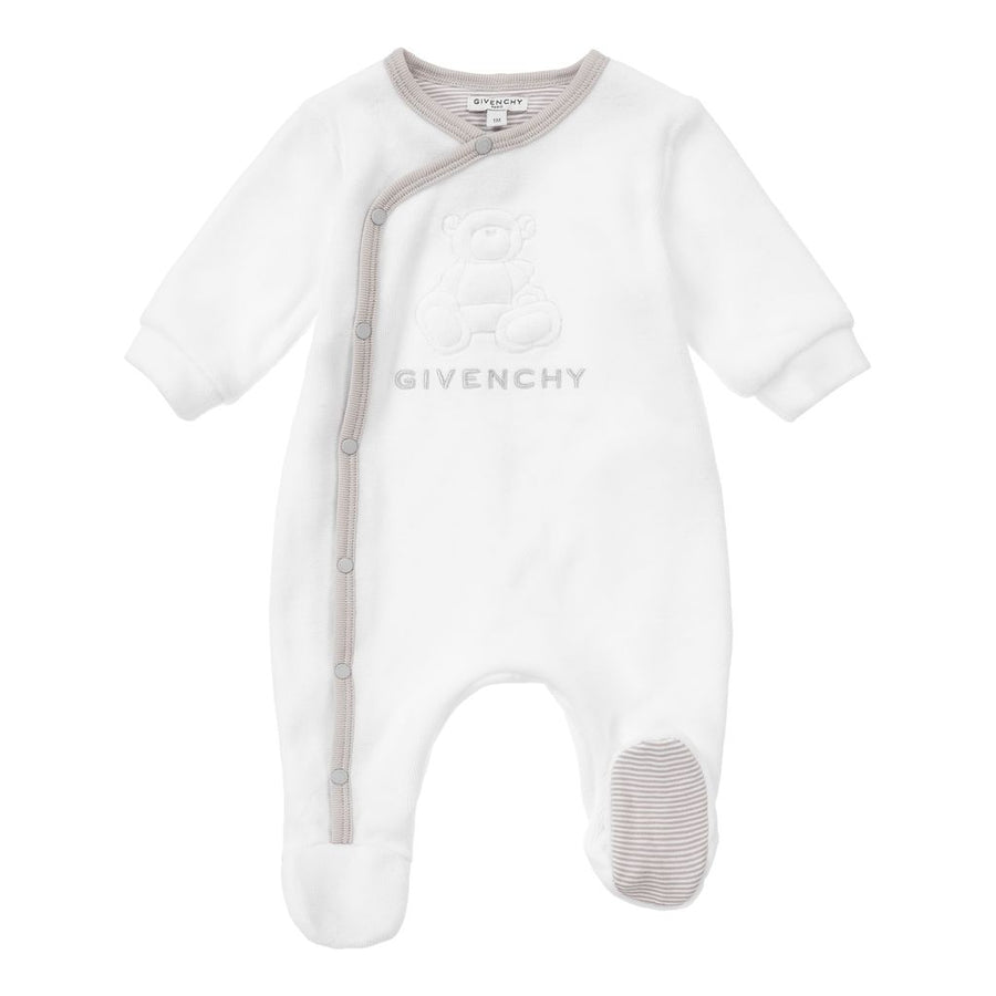 GIVENCHY-PYJAMAS+SOFT TOY SET-H98090-10B WHITE