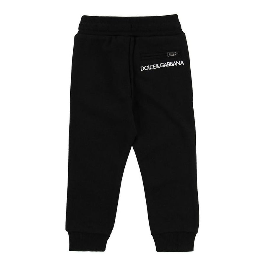 DOLCE & GABBANA BLACK JOGGING TROUSERS