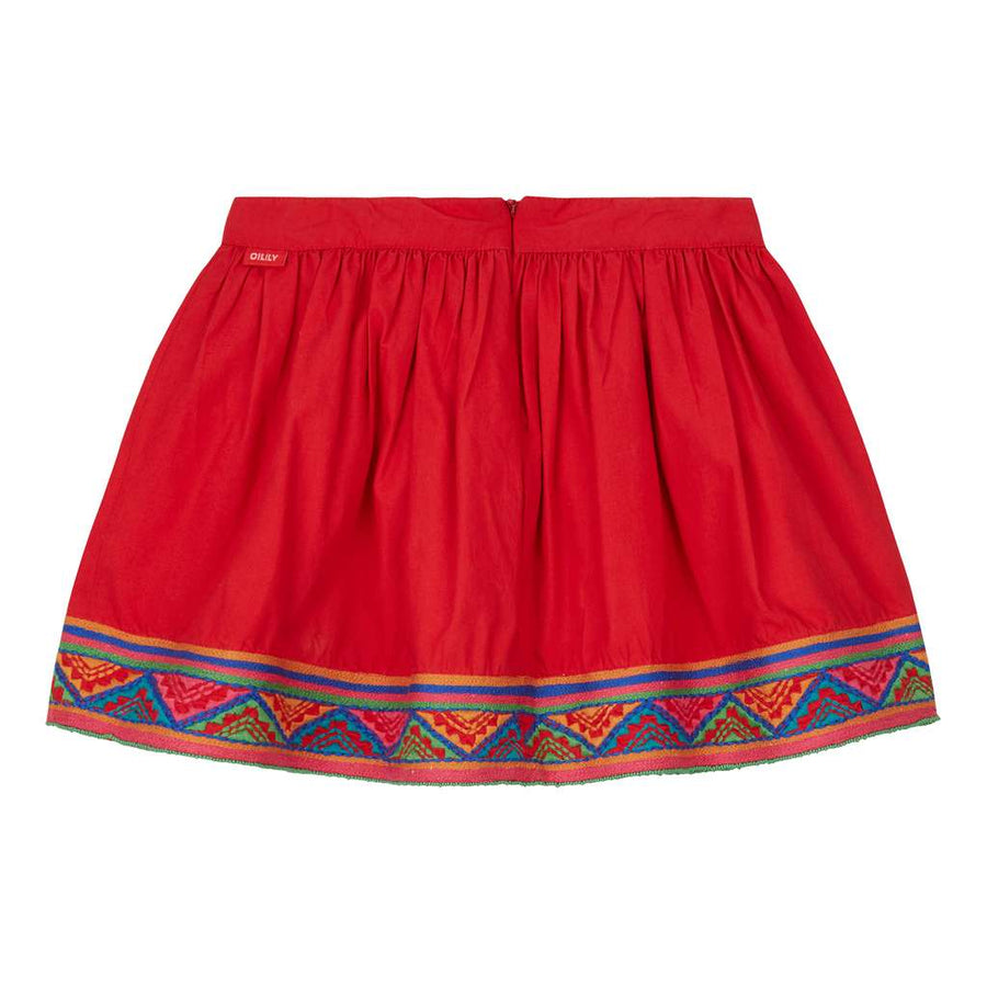 OILILY-Senna skirt 24 plain red-YF18GSK201-24-Default-Oilily-kids atelier
