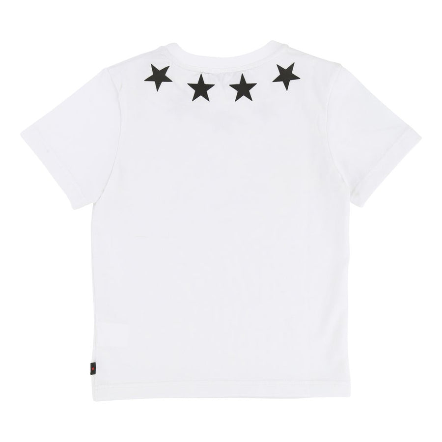 GIVENCHY WHITE STAR NECKLINE SHORT SLEEVE T-SHIRT