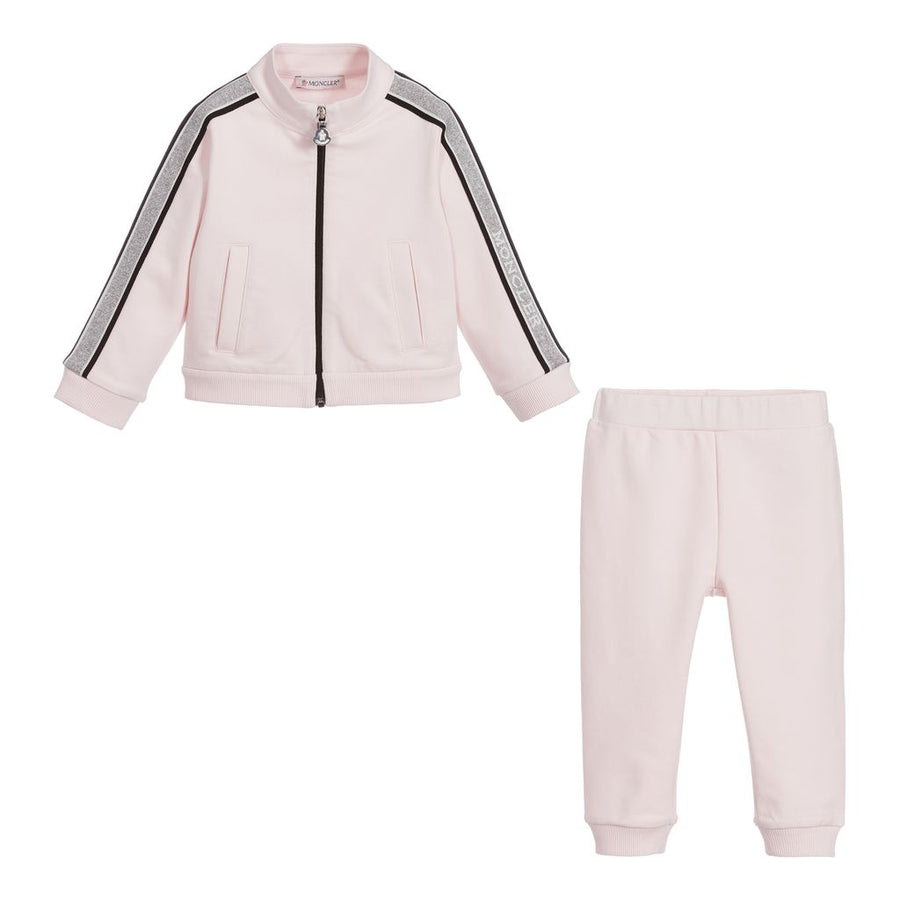 LIGHT PINK CARDIGAN + TROUSERS SET