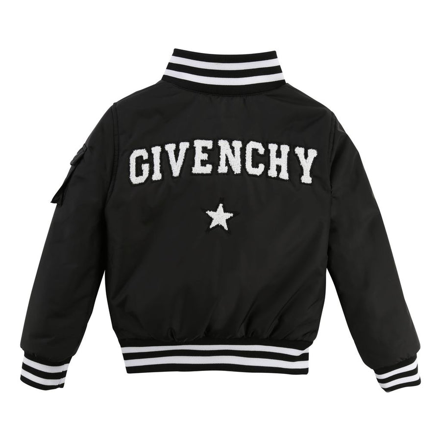 Givenchy Kids Black Bomber Jacket-Outerwear-Givenchy-kids atelier