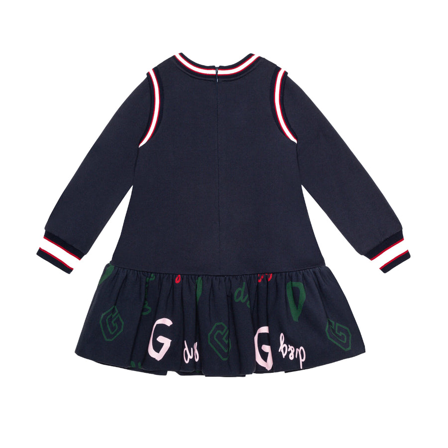 D&G-LS DRESS-L5JD2A-G7WXH-S9000-BLU NAVY
