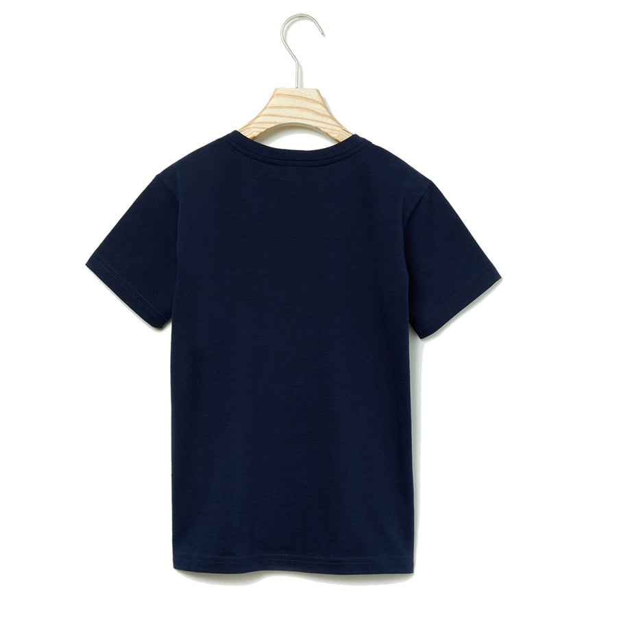 LACOSTE-TJ1441-166-NAVY BLUE T-SHIRT