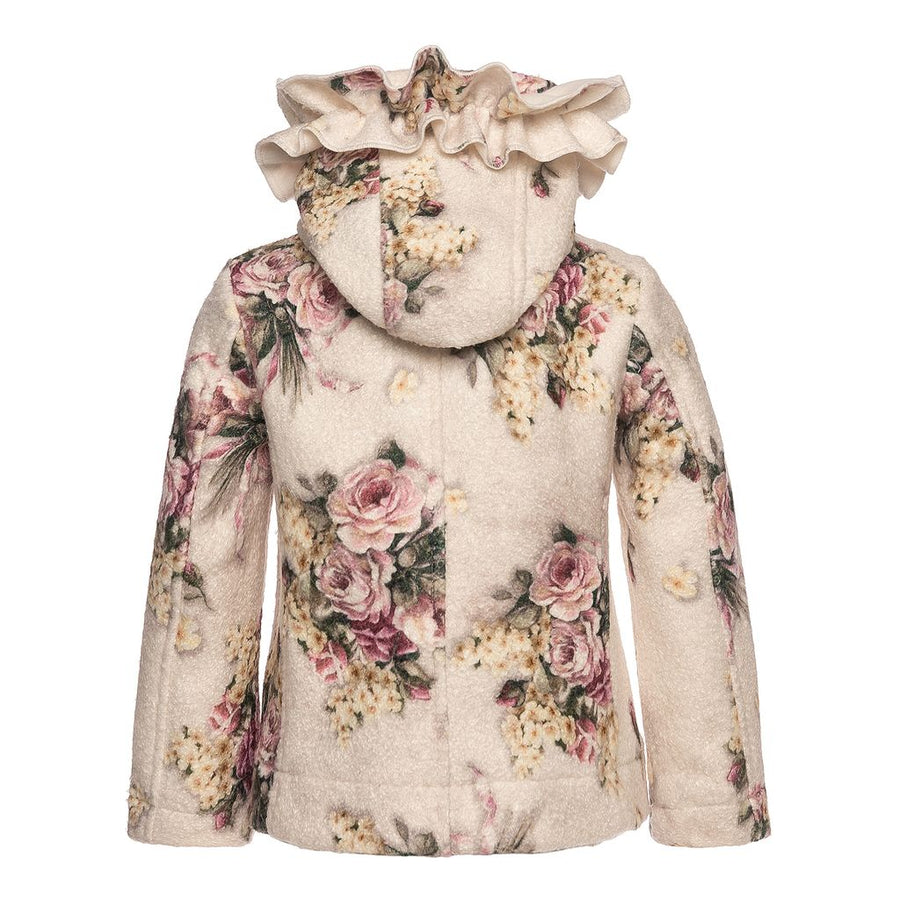 Monnalisa Cream Cappottino Corto Jacket