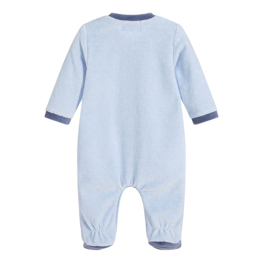 Mayoral Powder Blue Velvet Pajamas