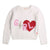 IVORY GIRL GRAPHIC SWEATER