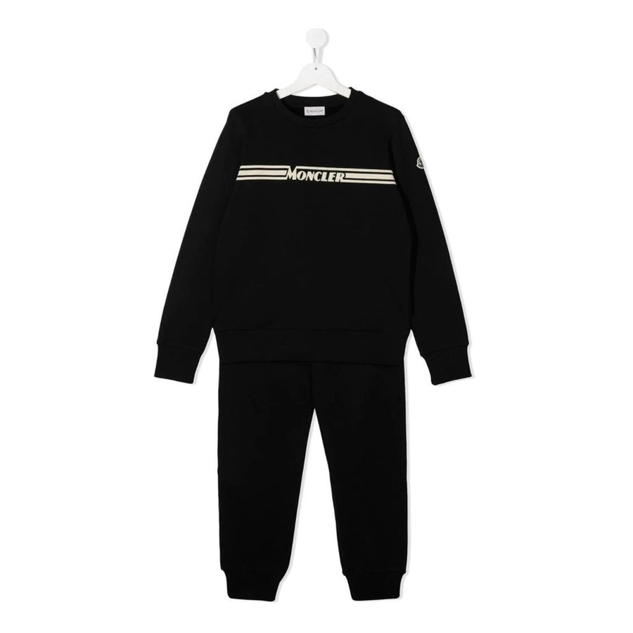 Black Logo Tracksuit Set
