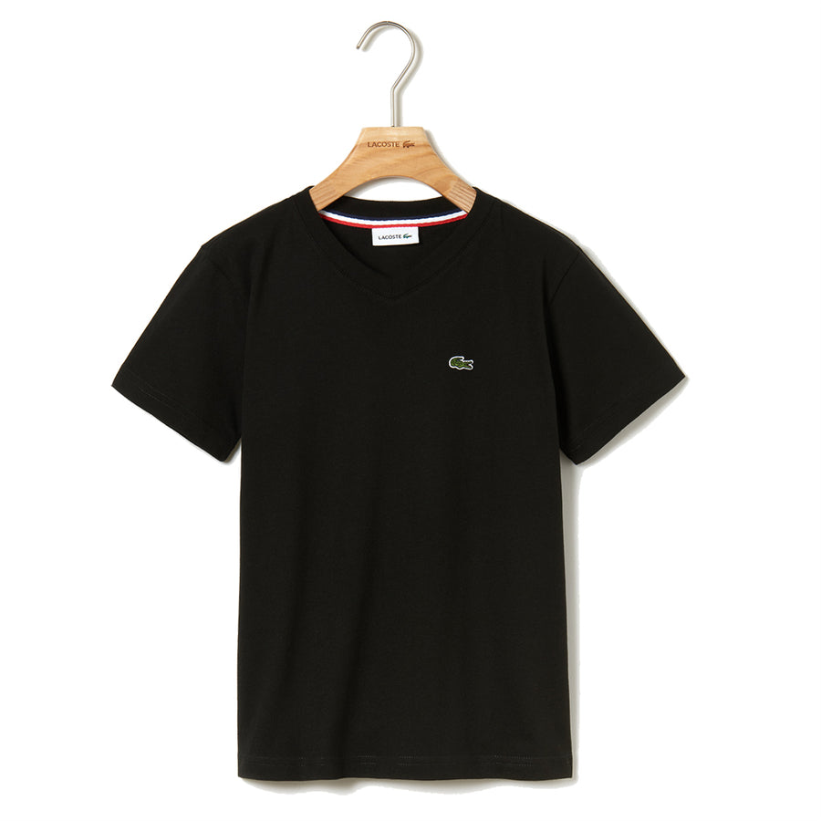 LACOSTE-TJ1441-031-BLACK T-SHIRT