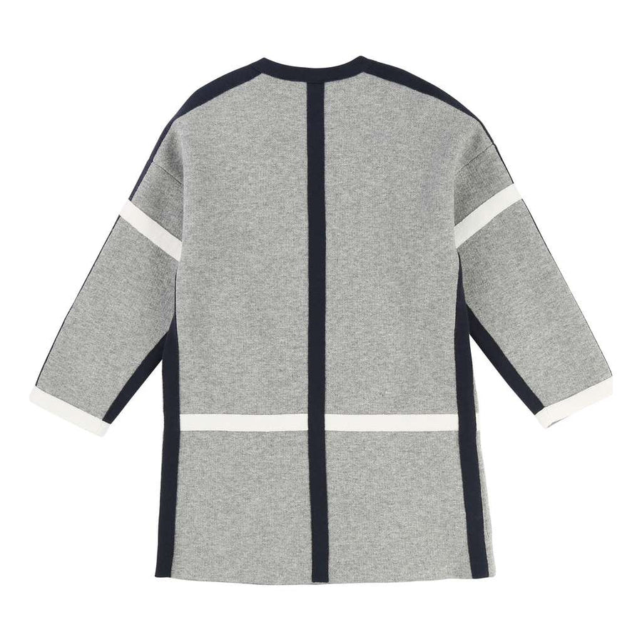 Chloe Grey Wool Blend Knitted Coat-Default-Chloe-kids atelier