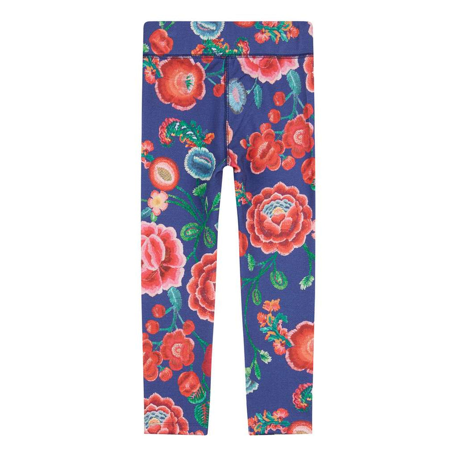 Toga Painted Embroidery Flower Leggings