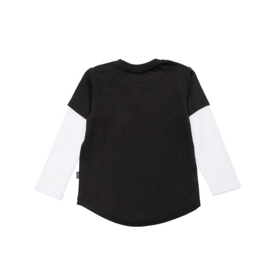 SUPERISM BLACK JAMES LONG SLEEVE KNIT TOP