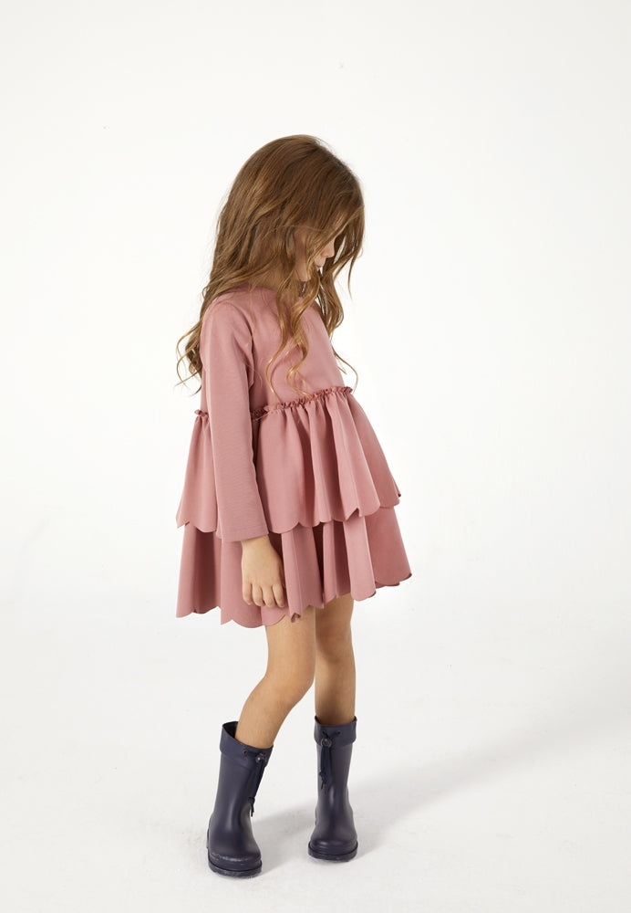 Brick Ruffle Dress