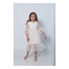 Charabia Beige Long Lace Overlay Dress-ne53c-