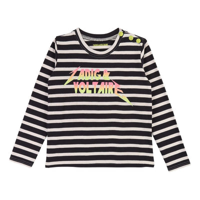 Zadig & Voltaire Navy Off White T-Shirt