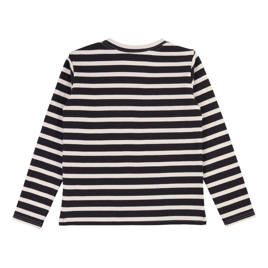 Navy/Off White Stripe T-Shirt