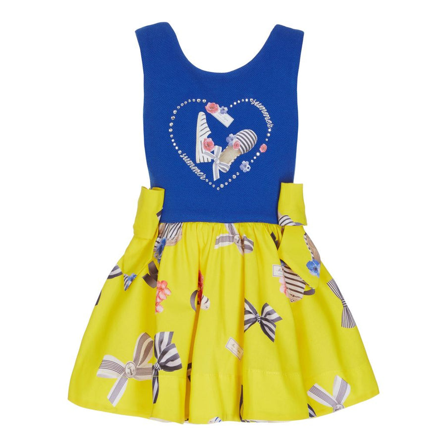 Lapin House Yellow Bow Dress-Dresses-Lapin House-kids atelier