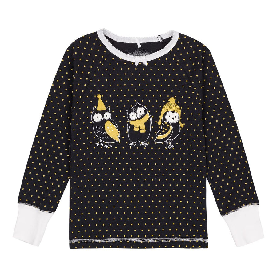 Gold Dots Owl Pajamas