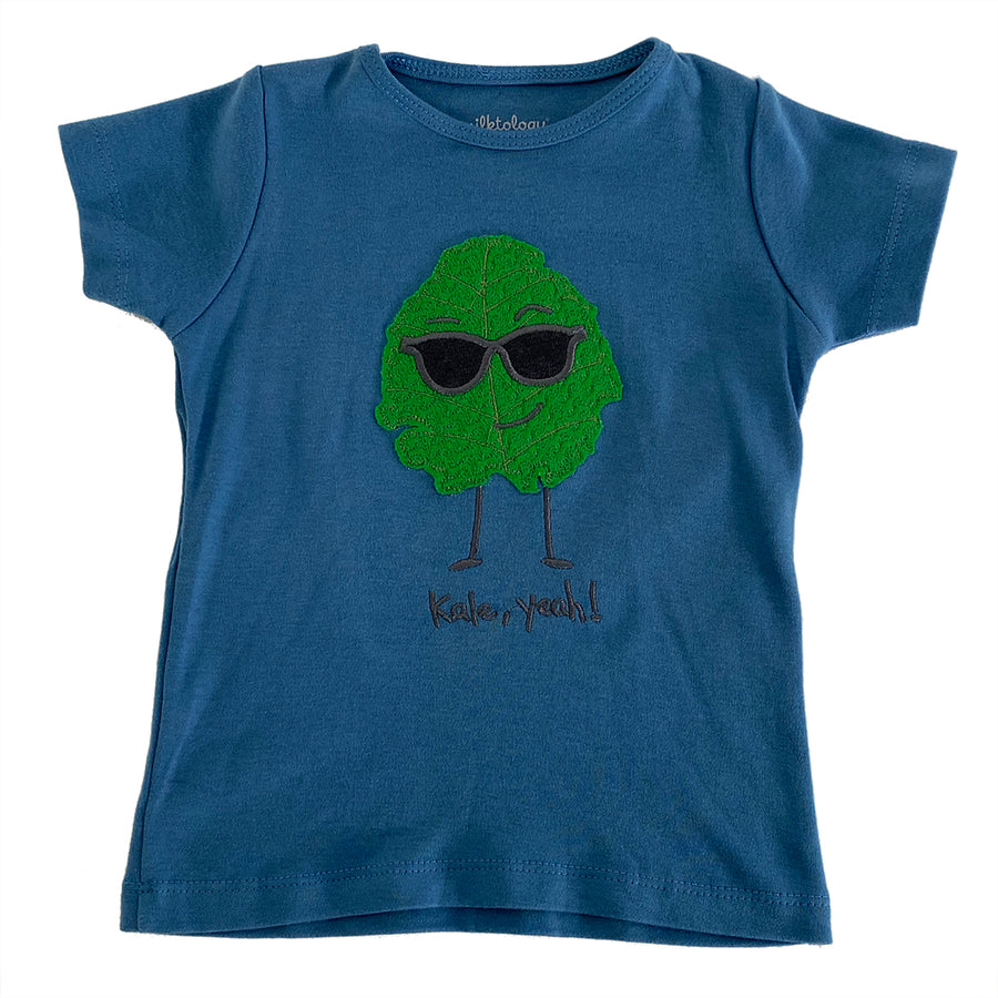 MILK375-BLUE-KALE YEAH T-SHIRT