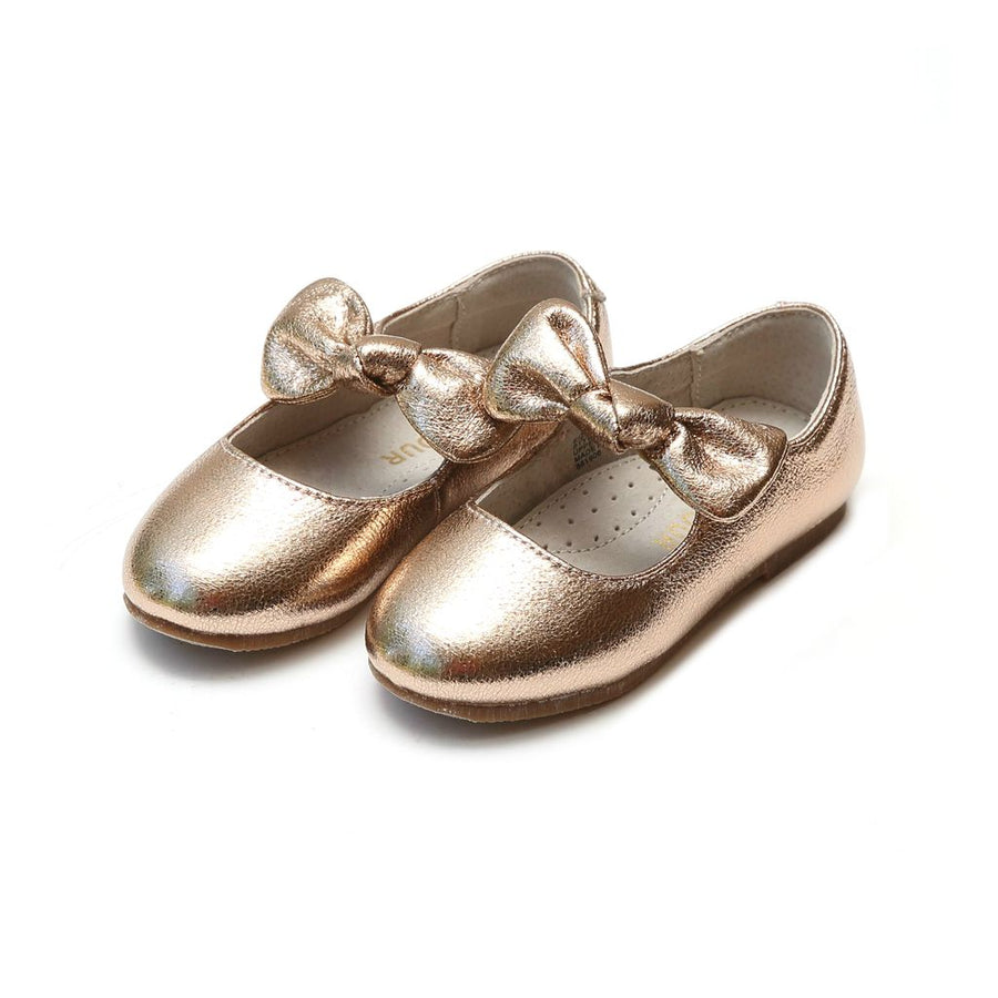 lamour-rose-gold-celia-knotted-bow-flat-436rg