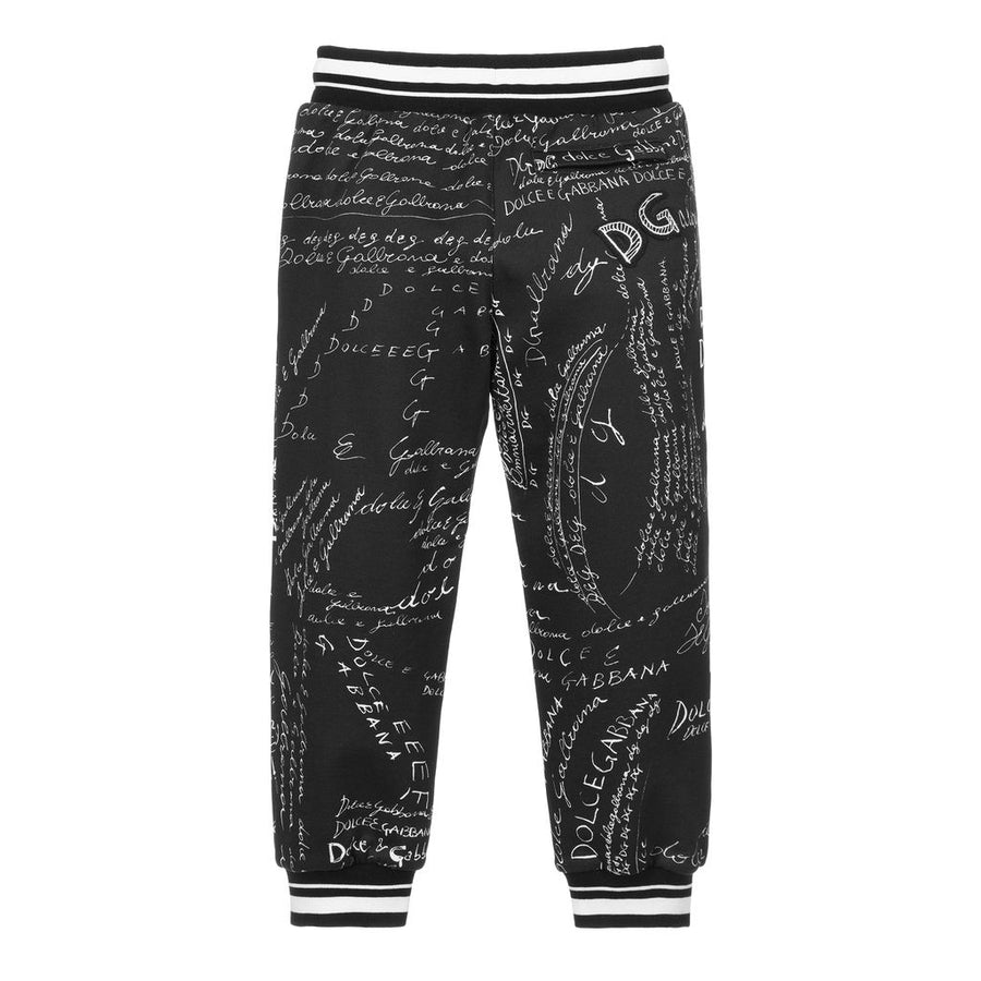 D&G-JOGGING PANTS-L4JPBQ-G7XBS-HX2EP-BLACK/WHITE