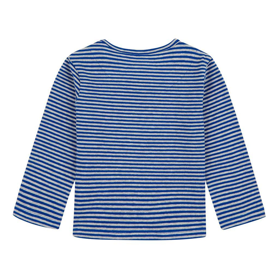 Oilily Tip Striped Blue T-Shirt-Default-Oilily-kids atelier