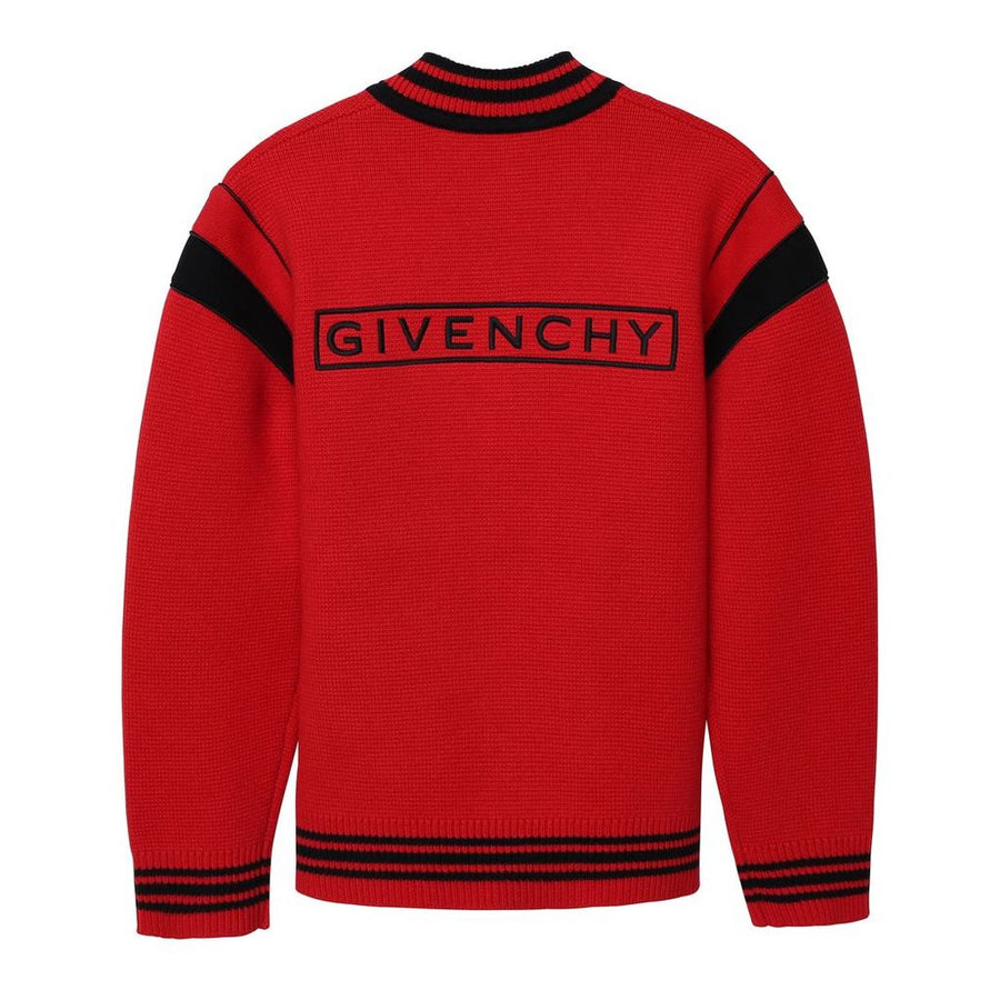 GIVENCHY-KNITTED CARDIGAN-H25199-991 BRIGHT RED