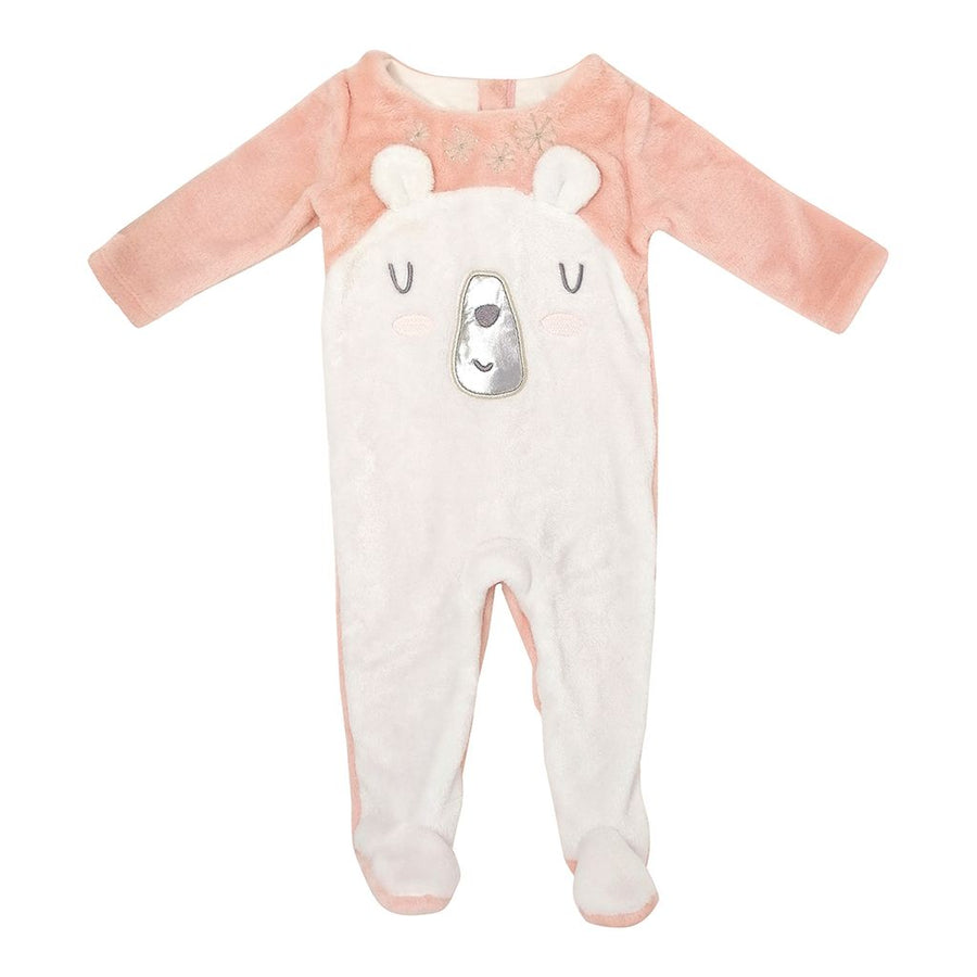 Pale Pink Polar Bear Bodysuit