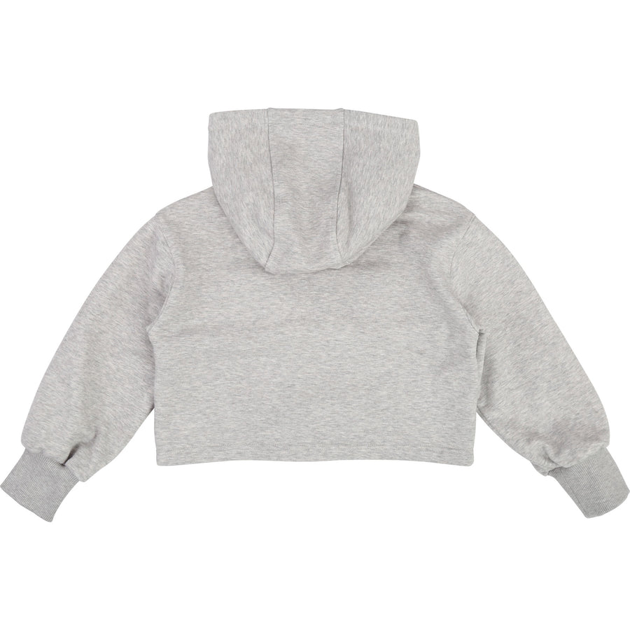 GIVENCHY GRAY CROPPED SWEATSHIRT