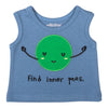 BLUE INNER PEAS TANK TOP