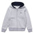 LACOSTE-SJ2903-MNC-SILVER CHINE/NAVY BLUE FLEECE HOODIE