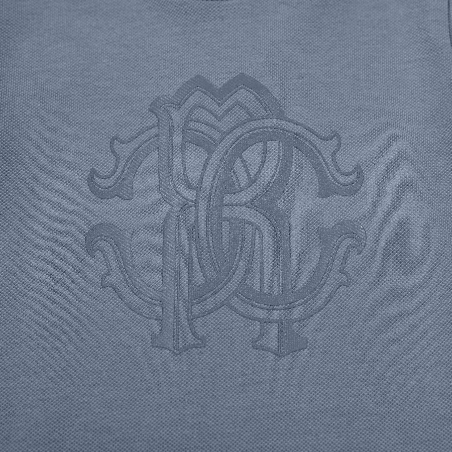Blue Monogram Long Sleeve T-Shirt