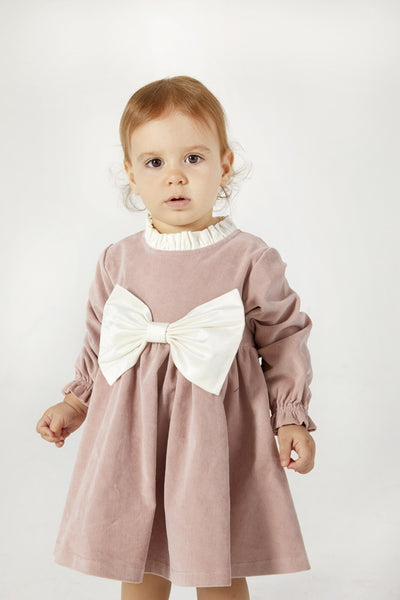 pinolini-dark-rose-bow-dress-2255