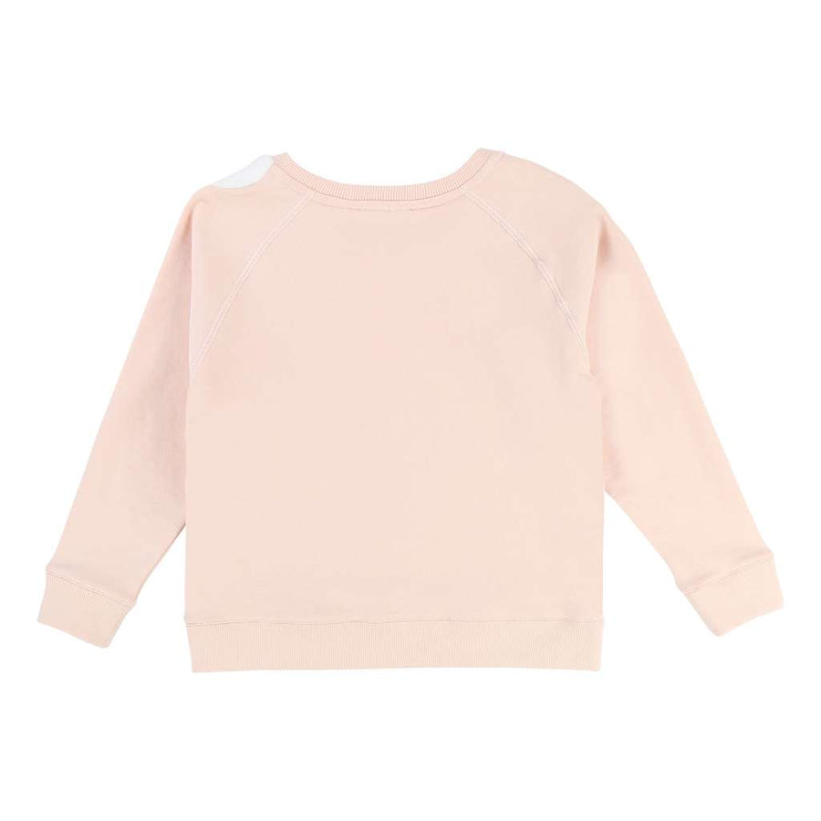 Chloe Pink Cotton Sweatshirt-Default-Chloe-kids atelier